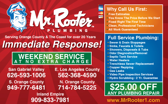Exclusive Ad: Mr. Rooter Plumbing  6265931006 Logo