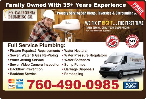 Exclusive Ad: So.CaliforniaPlumbingCo. Fallbrook 7607319957 Logo