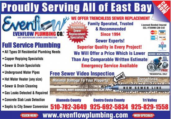 Exclusive Ad: Evenflow Plumbing  5107823649 Logo