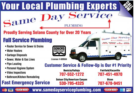 Exclusive Ad: Same Day Service Plumbing  7075521272 Logo