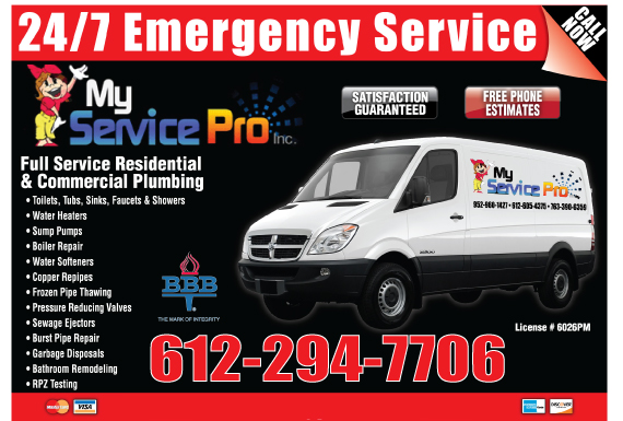 Exclusive Ad: My Service Pro Long Lake 6122212906 Logo