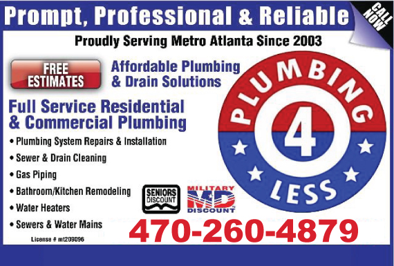 Exclusive Ad: 174-Plumbing for Less  4045096866 Logo