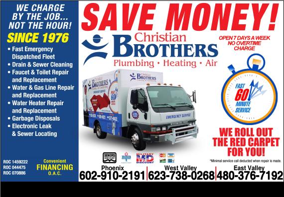 Exclusive Ad: Christian Brothers Plumbing - Plumbing Phoenix 6239399421 Logo