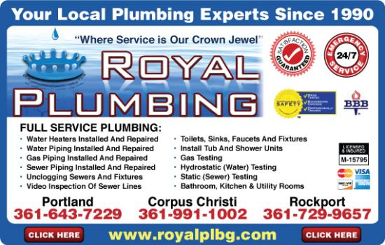 Exclusive Ad: 736-Royal Plumbing  3619911002 Logo