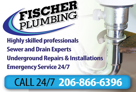 Exclusive Ad: Fischer Plumbing Seattle 2063372141 Logo