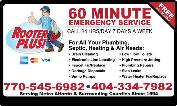 Exclusive Ad: Rooter Plus Atlanta 4048570390 Logo