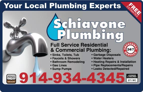 Exclusive Ad: Schiavone Plumbing  9142182241 Logo