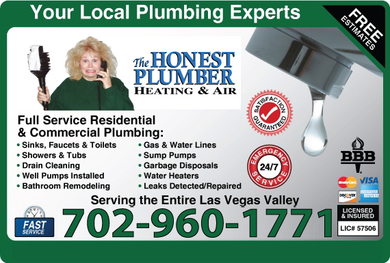 Exclusive Ad: The Honest Plumber Heating & Air Henderson 7026052030 Logo