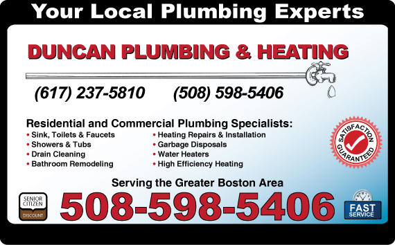 Exclusive Ad: 747-Duncan Plumbing & Heating Inc.  5085985406 Logo