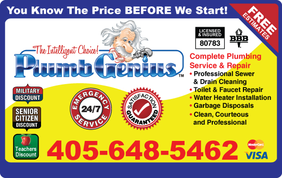 Exclusive Ad: Plumb Genius  4053344479 Logo