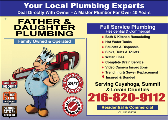 Exclusive Ad: Father & Daughter Plumbing Independence 2162209300 Logo