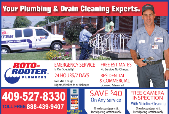 Exclusive Ad: 65721-Roto-Rooter Plumbing & Drain Service  4092832053 Logo