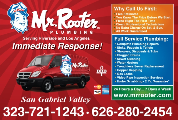 Exclusive Ad: Mr Rooter Plumbing - San Gabriel Valley  3237211243 Logo