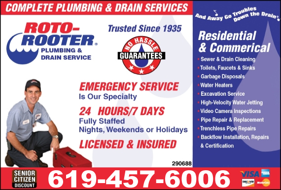 Exclusive Ad: 66010-Roto-Rooter Plumbing & Drain Service  7146300404 Logo