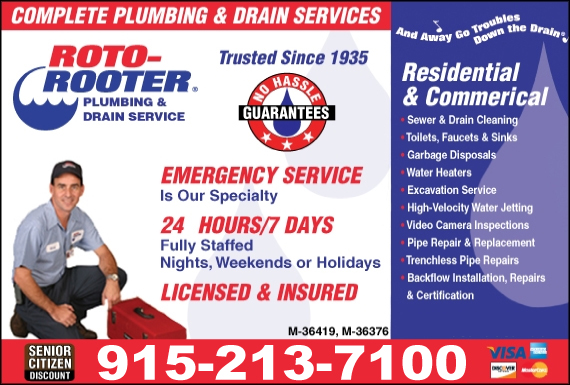 Exclusive Ad: 66017-Roto-Rooter Plumbing & Drain Service  7146300404 Logo