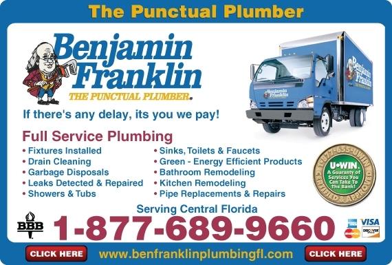 Exclusive Ad: Benjamin Franklin Plumbing  8776899660 Logo