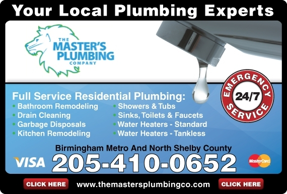 Exclusive Ad: The Masters Plumbing Company    2054100652 Logo