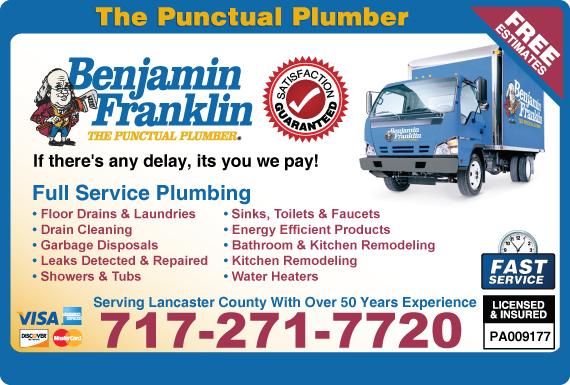 Exclusive Ad: Benjamin Franklin Plumbing Lancaster 7173884623 Logo