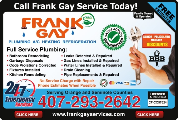Exclusive Ad: Frank Gay Services Inc.  4072932642 Logo