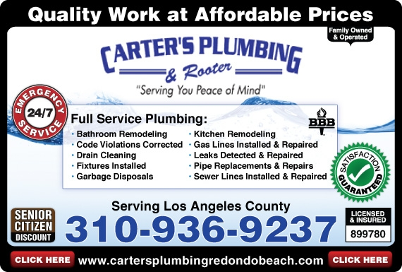 Exclusive Ad: 66572-Carter's Plumbing  3109369237 Logo