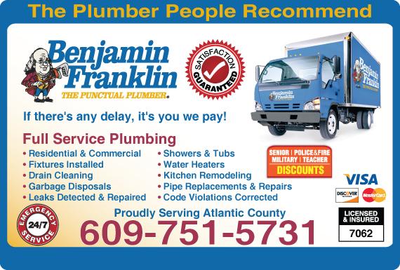 Exclusive Ad: 63449-Benjamin Franklin Plumbing  6095492320 Logo