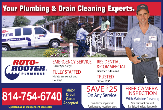 Exclusive Ad: 66723-Roto-Rooter Plumbing & Drain Cleaning  8148061910 Logo