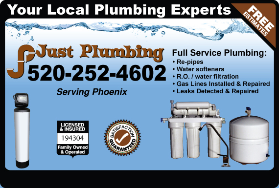 Exclusive Ad: Just Plumbing  5202305850 Logo