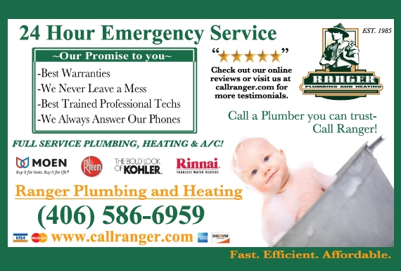 Exclusive Ad: Ranger Plumbing & Heating  4065866959 Logo