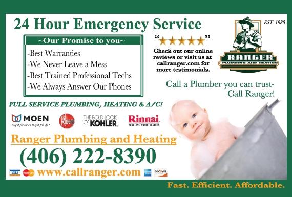 Exclusive Ad: Ranger Plumbing & Heating  4062228390 Logo