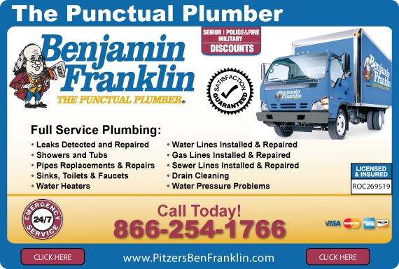 Exclusive Ad: Benjamin Franklin Plumbing Prescott Valley 8662541766 Logo