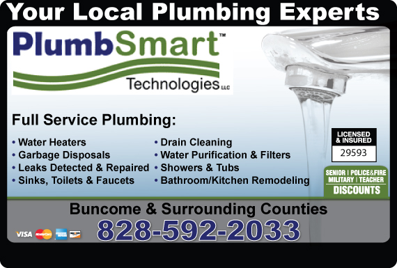 Exclusive Ad: Plumbsmart Technologies, LLC Asheville 8289746147 Logo