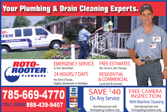 Exclusive Ad: 70555-Roto-Rooter Plumbing & Drain Service  7853123045 Logo