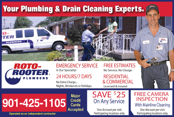 Exclusive Ad: 70590-Roto-Rooter Plumbing & Drain Cleaning - 901   Logo