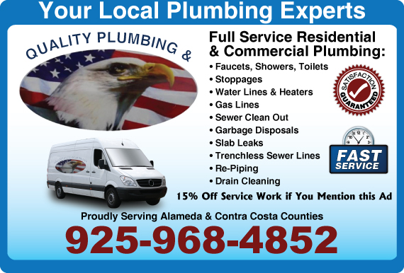 Exclusive Ad: Quality Plumbing & Rooter Antioch 9252335400 Logo