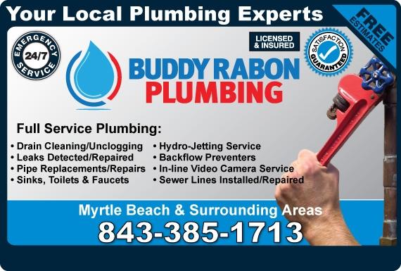 Exclusive Ad: Buddy Rabons Plumbing  8433851713 Logo
