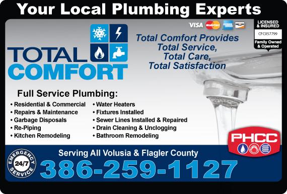 Exclusive Ad: Total Comfort Plumbing LLC  3863854660 Logo