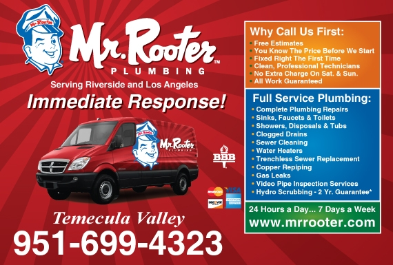 Exclusive Ad: Mr Rooter Plumbing - Temecula Valley  9516994323 Logo