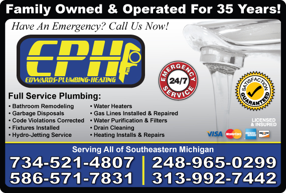 Exclusive Ad: Plumbing West Bloomfield 3135280302 Logo