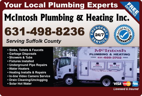 Exclusive Ad: McIntosh Plumbing & Heating Inc.  6317866954 Logo