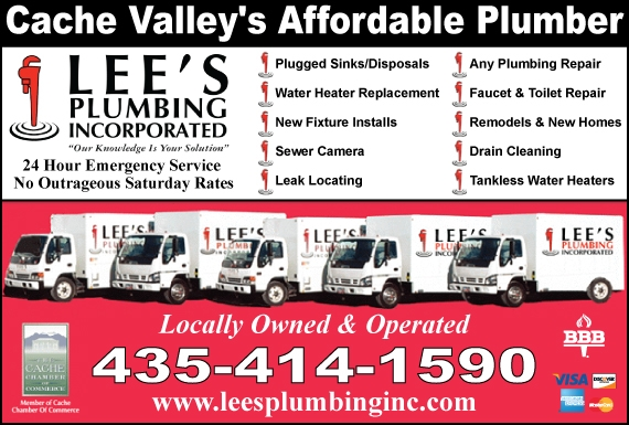 Exclusive Ad: Lee's Plumbing Inc.  4354141590 Logo