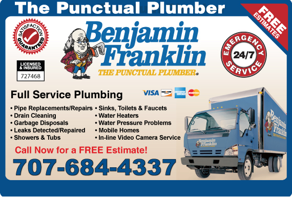 Exclusive Ad: Benjamin Franklin Plumbing  7079311640 Logo