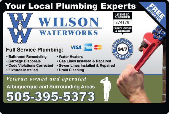 Exclusive Ad: Wilson Waterworks  5059168340 Logo