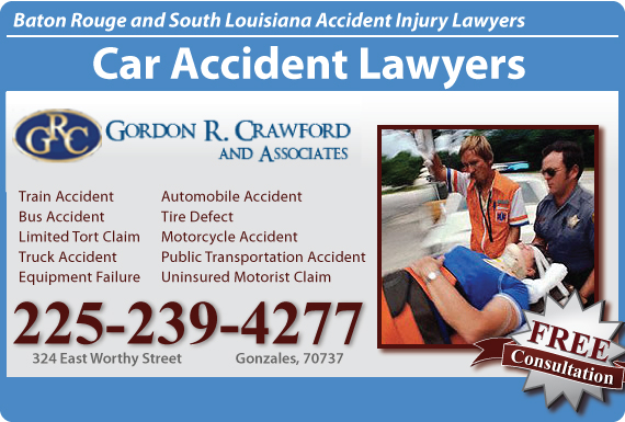 Exclusive Ad: Gordon R Crawford & Associates Gonzales 2256472881 Logo