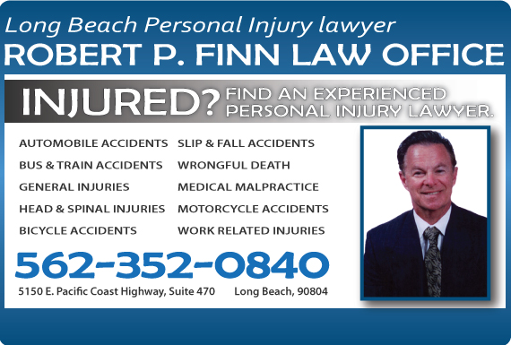 Exclusive Ad: The Law Offices of Robert P. Finn Long Beach 5622046730 Logo