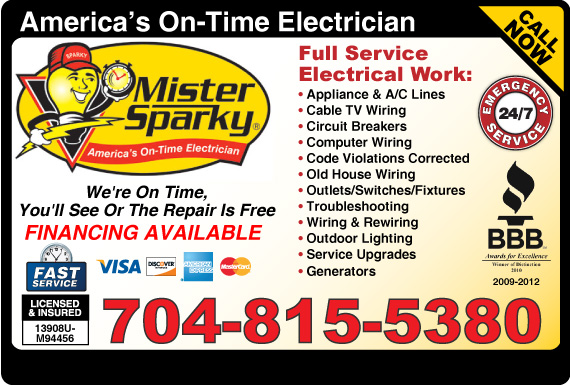 Exclusive Ad: Mister Sparky Charlotte 7042476401 Logo