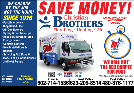 Exclusive Ad: Christian Brothers Plumbing - HVAC Phoenix 6024280020 Logo