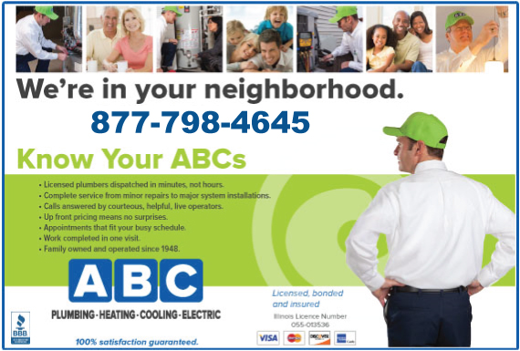 Exclusive Ad: ABC - PLUMBING Buffalo Grove 8777496060 Logo