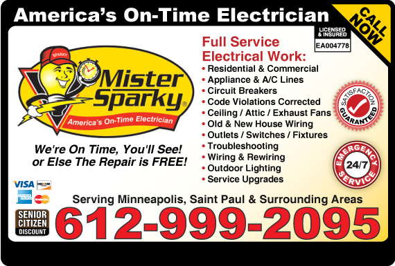 Exclusive Ad: Mister Sparky Minneapolis 6129150220 Logo