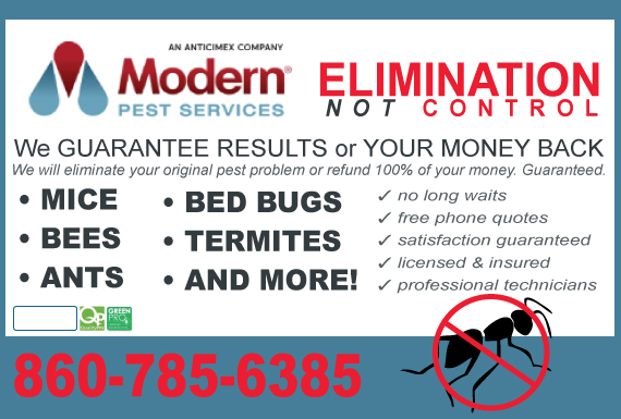 Exclusive Ad: Modern Pest Services Northford 8005535528 Logo