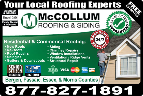 Exclusive Ad: McCollum Roofing & Siding West Orange 8776047663 Logo